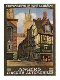 Angers, France - View of the Butcher's, Paris and Orleans Railway Postcard, c.1920 Prints by  Lantern Press