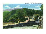 Great Smoky Mts. Nat'l Park, Tn - Rockefeller Memorial View of Mt. Le Conte, c.1937 Posters