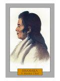 Shahaka - Portrait of a Mandan Chief, c.1844 Prints by  Lantern Press