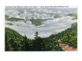 Great Smoky Mts. Nat'l Park, Tn - View of Newfound Gap Hwy Above the Clouds, c.1946 Prints