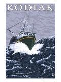 Kodiak, Alaska - Fishing Boat, c.2009 Posters by  Lantern Press