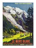 Hautes-Alpes, France - Scenic View of Mont-Blanc, Paris, Lyon, and La Mediterranee Railway, c.1920 Prints by  Lantern Press