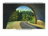 Great Smoky Mts. Nat'l Park, Tn - View from the Loop Underpass of the Chimney Tops, c.1941 Prints by  Lantern Press