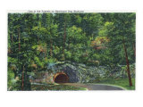 Great Smoky Mts. Nat'l Park, Tn - View of a Tunnel on the Newfound Gap Highway, c.1946 Prints