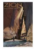 Zion National Park - the Narrows, c.2009 Prints by  Lantern Press