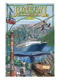 Juneau, Alaska Views, c.2009 Prints by  Lantern Press