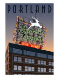 Portland, Oregon - Made in Oregon Sign, c.2009 Posters by Lantern Press