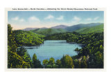 North Carolina - View of Lake Santeetlah Adjoining the Great Smoky Mts. Nat'l Park, c.1936 Posters
