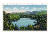 North Carolina - View of Lake Santeetlah Adjoining the Great Smoky Mts. Nat'l Park, c.1936 Posters