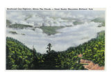Great Smoky Mts. Nat'l Park, Tn - View of Newfound Gap Highway Above the Clouds, c.1938 Poster