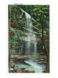 Great Smoky Mts. Nat'l Park, Tn - View of Rainbow Falls, c.1940 Prints