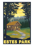 Estes Park, Colorado - Cabin Scene, c.2009 Prints by  Lantern Press