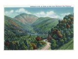 Great Smoky Mts. Nat'l Park, Tn - Newfound Gap Highway View of Bullhead on Mt. Le Conte, c.1946 Prints