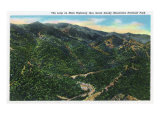 Great Smoky Mts. Nat'l Park, Tn - Aerial View of the Loop, c.1940 Art
