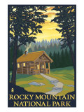 Rocky Mountain National Park, Co - Cabin Scene, c.2009 Art by  Lantern Press