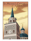 Sitka, Alaska - St. Michael's Cathedral, c.2009 Posters by  Lantern Press