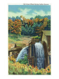 Great Smoky Mts. Nat'l Park, Tn - View of an Old Water-Wheel During Indian Summer, c.1940 Posters