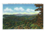 Great Smoky Mts. Nat'l Park, Tn - Clingman's Dome View, c.1940 Prints by  Lantern Press