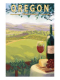 Oregon Wine Country, c.2009 Poster by  Lantern Press
