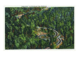 "Great Smoky Mts. Nat'l Park, Tn - Aerial View of the Newfound Gap Highway ""Loop-Over"", c.1940 Prints"