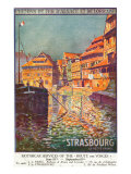 Strasbourg, France - View of a Man Steering a Ship, Alsace and Lorraine Railways, c.1920 Prints