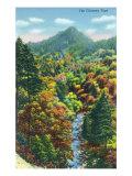 Great Smoky Mts. Nat'l Park, Tn - View of the Chimney Tops, c.1946 Prints by  Lantern Press