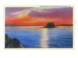 Utah - Sunset View over Black Rock in the Great Salt Lake, c.1933 Art