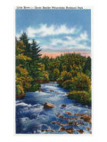 Great Smoky Mts. Nat'l Park, Tn - Scenic View of Little River, c.1946 Posters