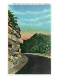 Great Smoky Mts. Nat'l Park, Tn - Park Highway Rocky Turn View of the Chimney Tops, c.1937 Prints