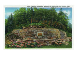 Great Smoky Mts. Nat'l Park, Tn - Close-Up of the Laura Spelman Rockefeller Memorial, c.1940 Posters