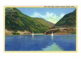 Ogden, Utah - Odgen Canyon, Scenic View of Sailboats on Pine View Lake, c.1938 Posters