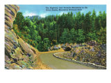 Great Smoky Mts. Nat'l Park, Tn - Scenic View on the Highway Right before a Tunnel, c.1940 Print