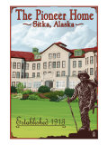 Sitka, Alaska - Pioneer Home, c.2009 Prints by  Lantern Press