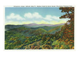 Great Smoky Mts. Nat&#39;l Park, Tn - View of Clingman&#39;s Dome in the Autumn, c.1940 Prints