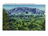 Great Smoky Mts. Nat'l Park, Tn - Panoramic View of Mt. Le Conte, c.1946 Prints