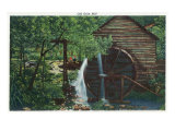 Great Smoky Mts. Nat'l Park, Tn - View of an Old Grist Mill, c.1946 Posters