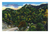 Great Smoky Mts. Nat'l Park, Tn - Scenic View of the Park from the Highway, c.1944 Art