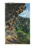 Great Smoky Mts. Nat'l Park, Tn - View of the Alum Cave Bluffs, c.1940 Poster