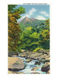 Great Smoky Mts. Nat'l Park, Tn - View of the Le Conte Creek and the Chimney Tops, c.1946 Poster by  Lantern Press