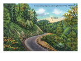 Great Smoky Mts. Nat'l Park, Tn - Newfound Gap Highway View of Newfound Gap, c.1940 Posters