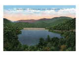 North Carolina - View of Lake Santeetlah Near Great Smoky Mts. Nat'l Park, c.1944 Posters