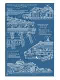 Museum of Science and Industry Blueprint - Chicago, Il, c.2009 Posters by  Lantern Press