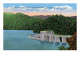 North Carolina - View of Lake Santeetlah Near Great Smoky Mts. Nat'l Park Southern Boundary, c.1944 Print