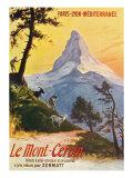 Switzerland - Paris, Lyon, and La Mediterranee Railway Promo of the Alps, the Matterhorn, c.1920 Prints by  Lantern Press