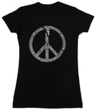 Juniors: Broken Peace T-shirts
