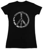 Juniors: Peace, Love & Music T-shirts