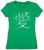 Juniors: Chinese Symbol For Love Koszulki