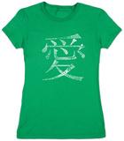 Juniors: Chinese Symbol For Love Shirts