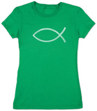 Juniors: Jesus Fish T-Shirt