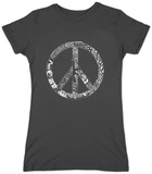 Juniors: Peace, Love & Music T-Shirt